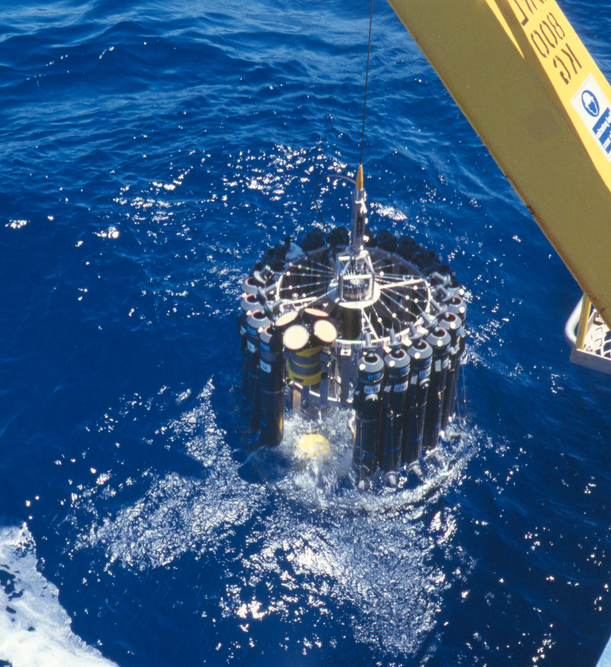 Conductivity Temperature Depth (CTD) data being collected on Southern Surveyor