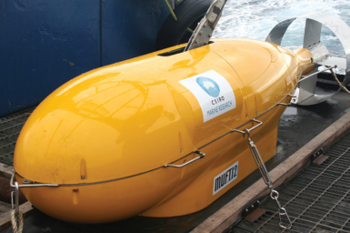 Remotely Operated Vehicle (ROV) is MUFTI-2 Multiple Frequency Towed Instrument