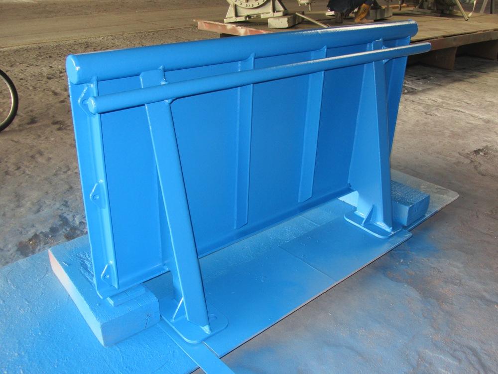 The blue railing onboard Investigator