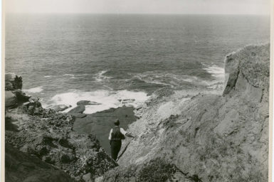 Cliff looking out to sea