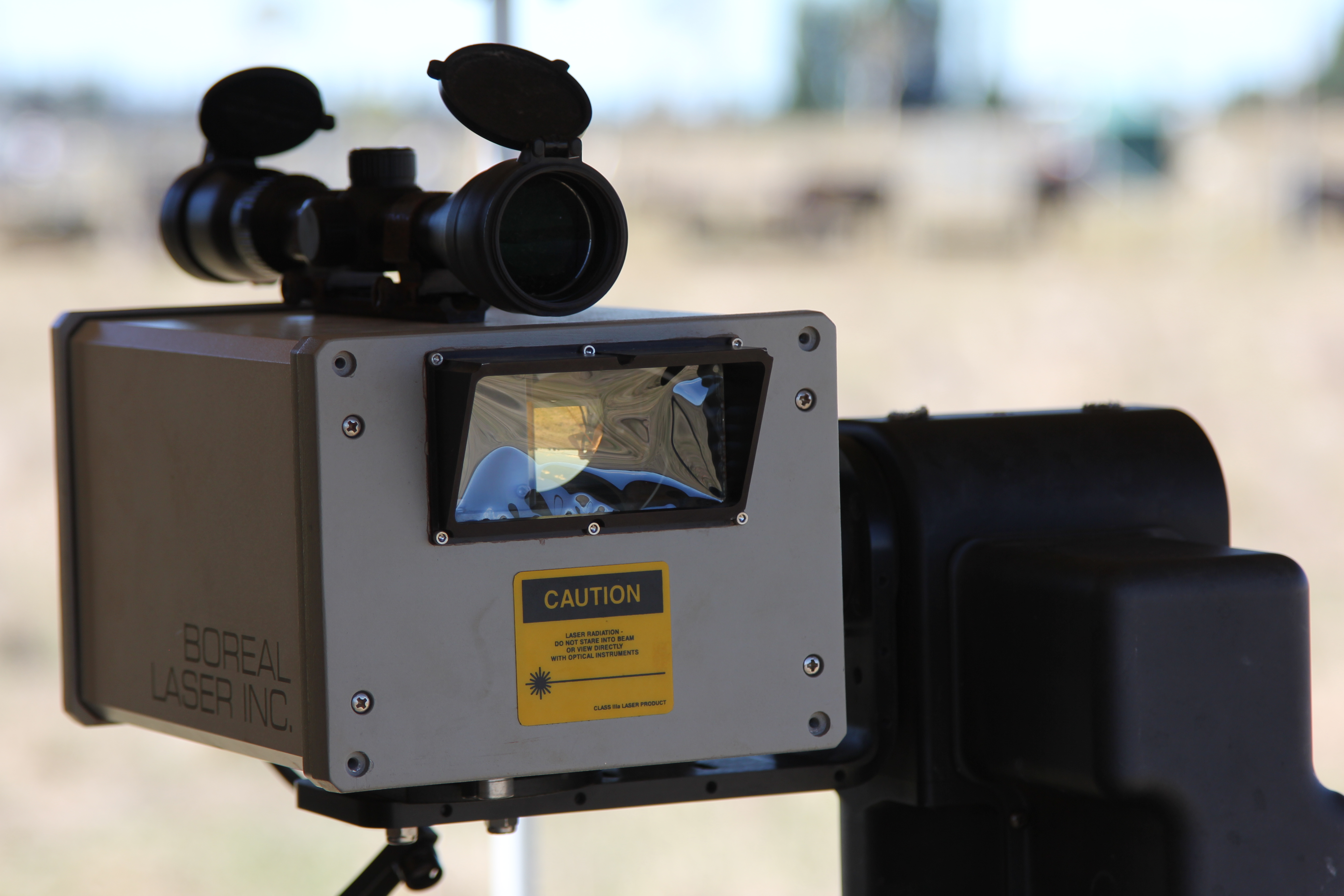 Open-path lasers are used to measure the amount of methane being emitted from herds of cows.