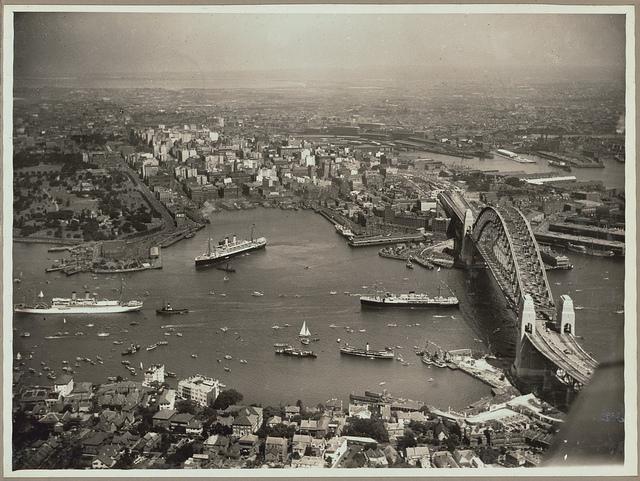 Sydney Harbour Bridge opening, 1932.