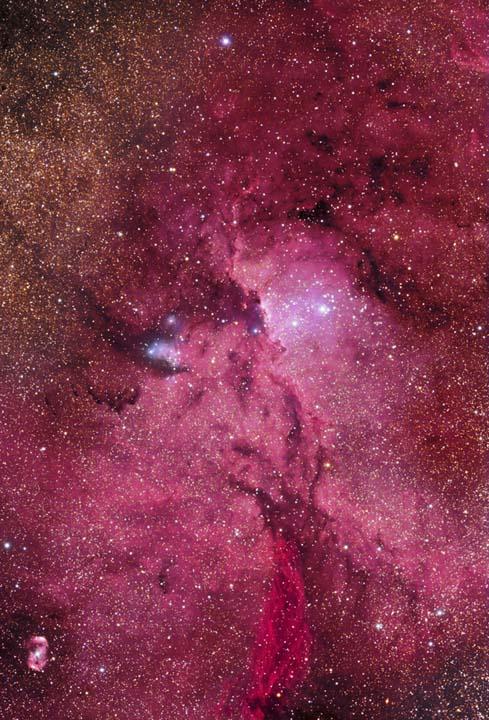 Crimson Flares - NGC 6188 & NGC 6164-5 by Marcus Davies, winner of 2009 Deep Sky category
