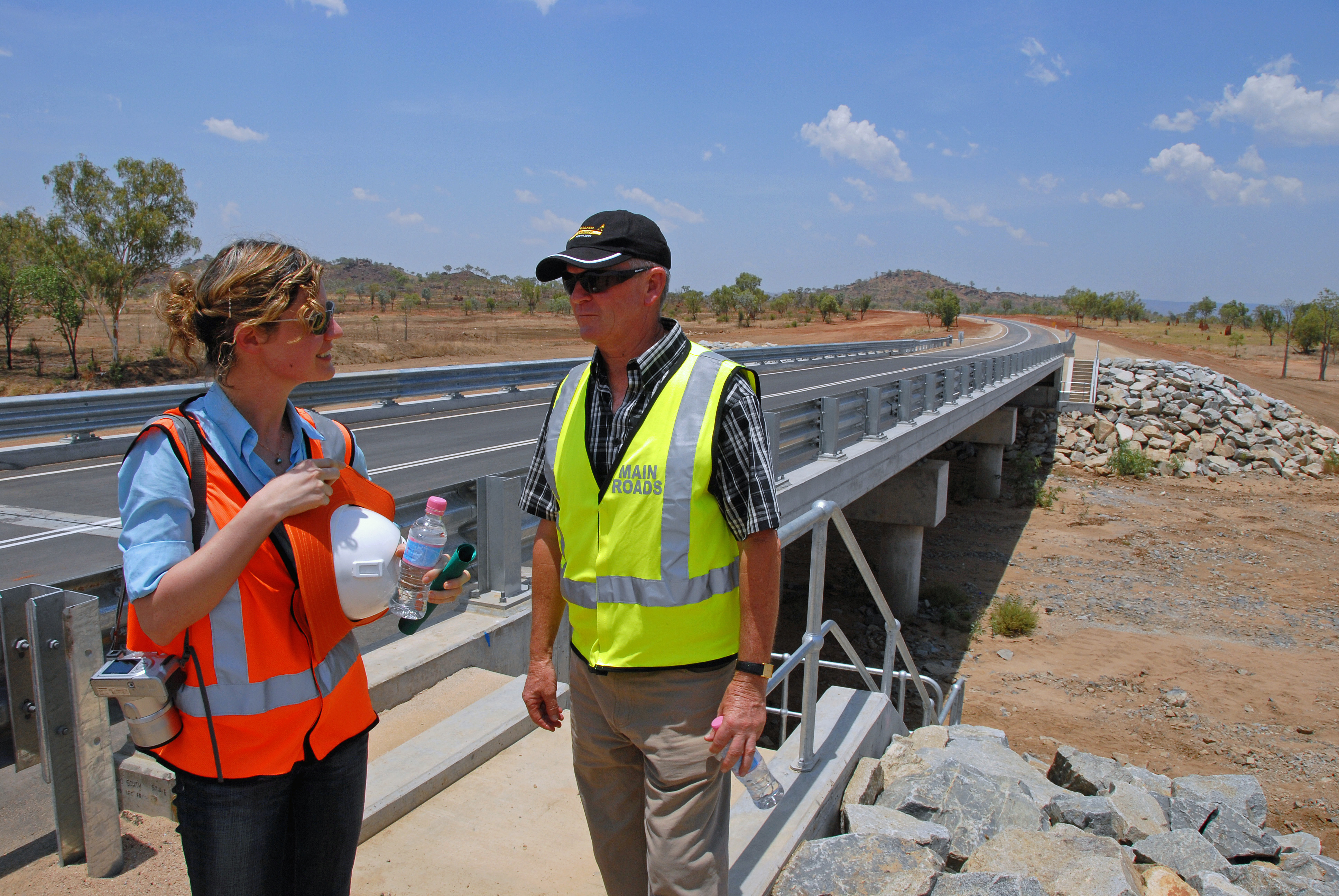 Part-time astronomer, part-time bridge builder. Giovanna finishing off a bridge on the Great Northern Highway.