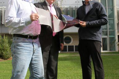 (L-R) Dr David Jones, Professor Andrew Holmes and Dr Scott Watkins.