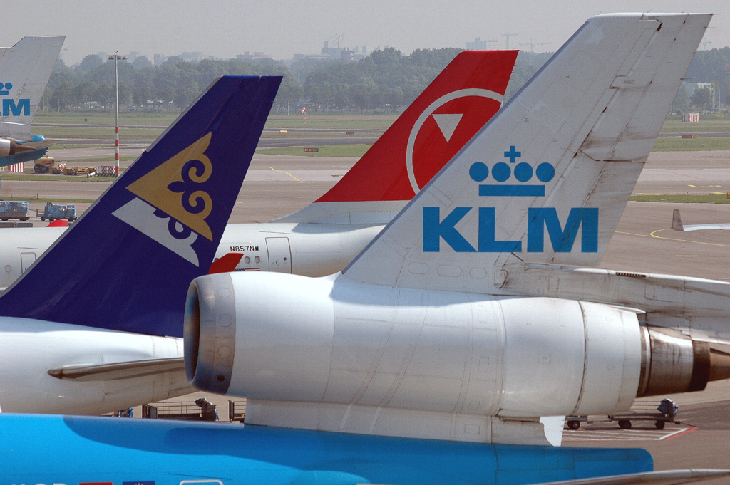 Photo of the tail of three planes
