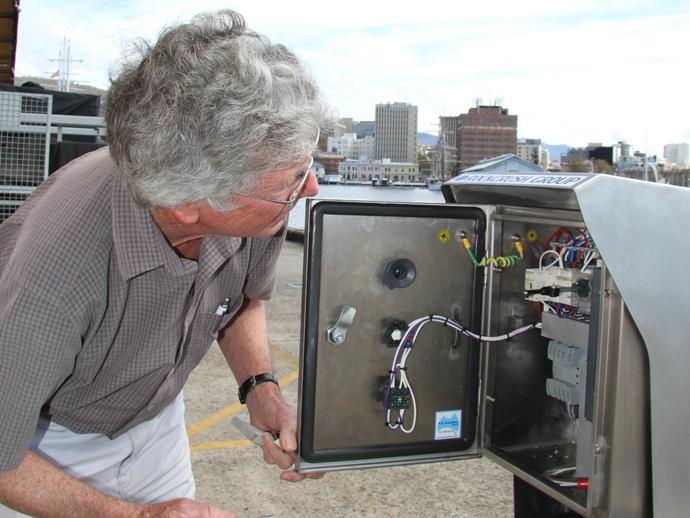 RV Investigator's CTD trace metal winch
