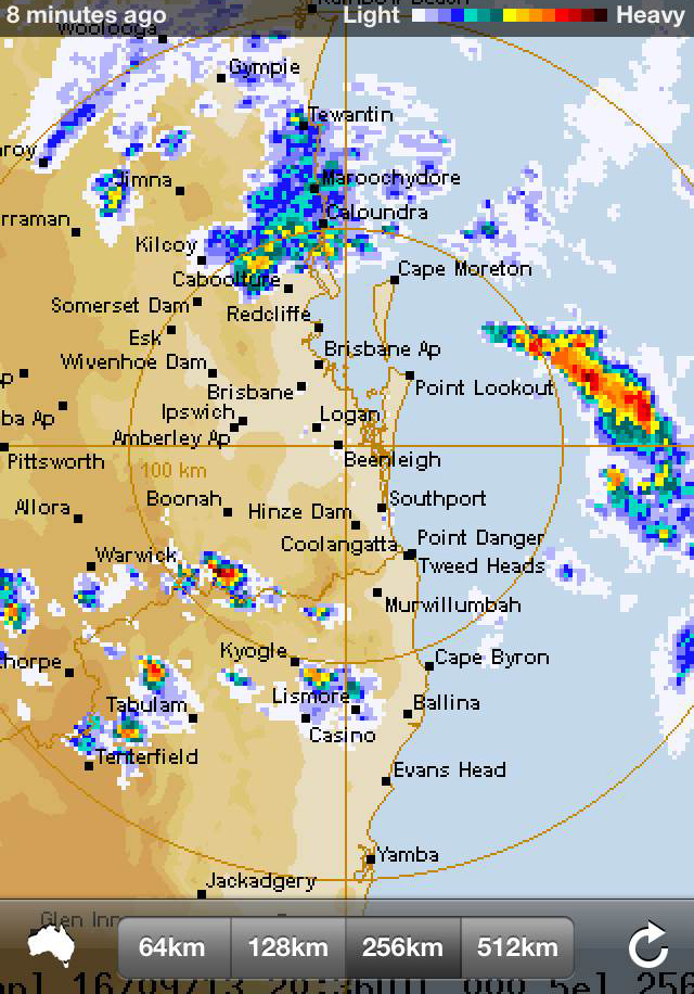 Rainfall radar image