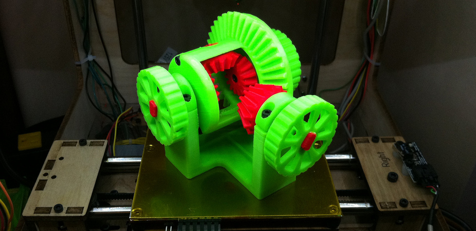 3D printing holds many advantages for the manufacturing industry, including the ability to print moving parts. Image: John Biehler.