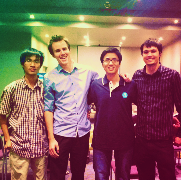 Peter (right) is mentoring early career scientists as part of his work in Vietnam.