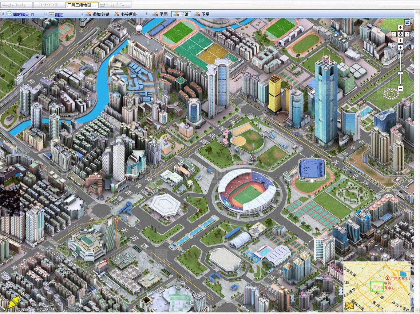 A high-resolution 3D map of Guangzhou, China. Image: Colin ZHU