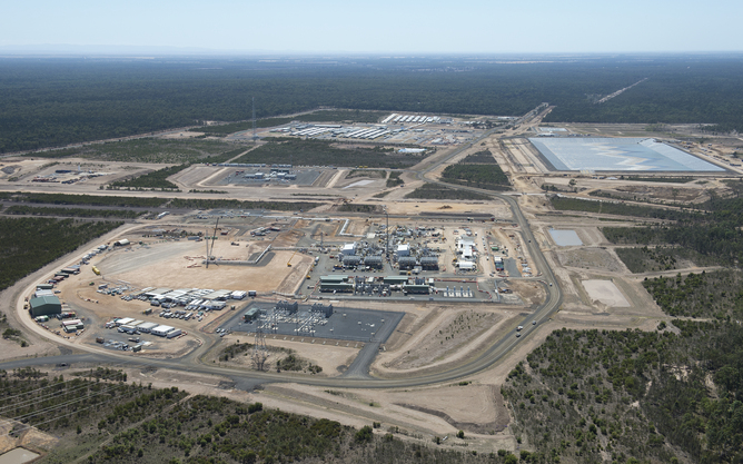 The Ruby Jo coal seam gas central processing plant, near Chinchilla in Queensland's Surat Basin, October 2013. Image: AAP/Dave Hunt