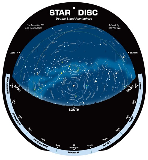 graphic regarding Planisphere Printable named The Sky within Your Hand - CSIROscope