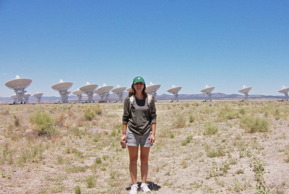 Me at the VLA in New Mexico, USA. Photo by Dr. Mar Mezcua.