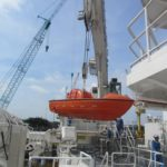 Postioning RV Investigator's work boat