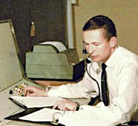 John Saxon at the Honeysuckle Operations Console. (Photo.)