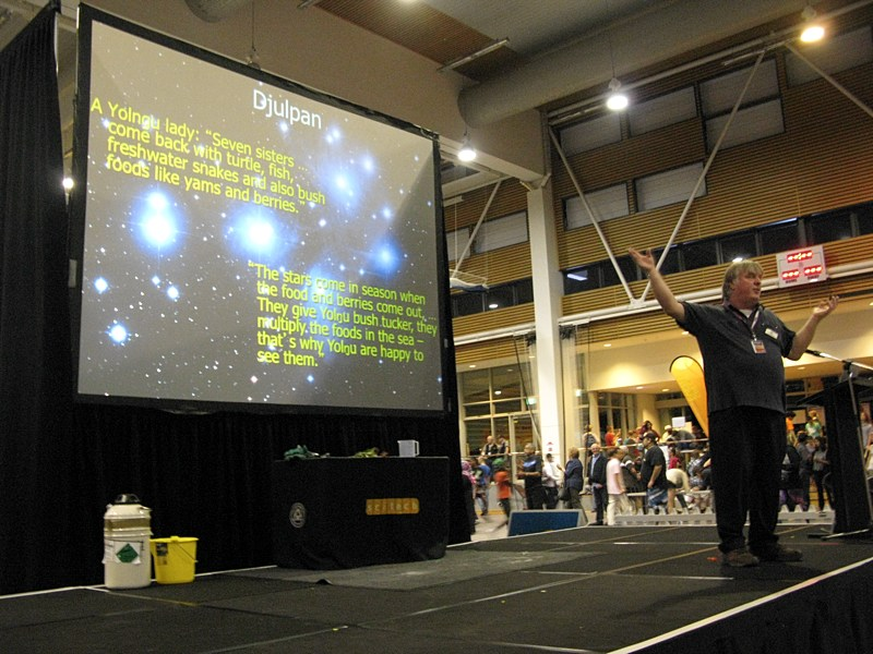 CSIRO Astronomer Ray Norris giving his Indigenous Astronomy talk to an enthusiastic audience at Astrofest.