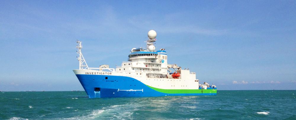 RV Investigator on scientific sea trials