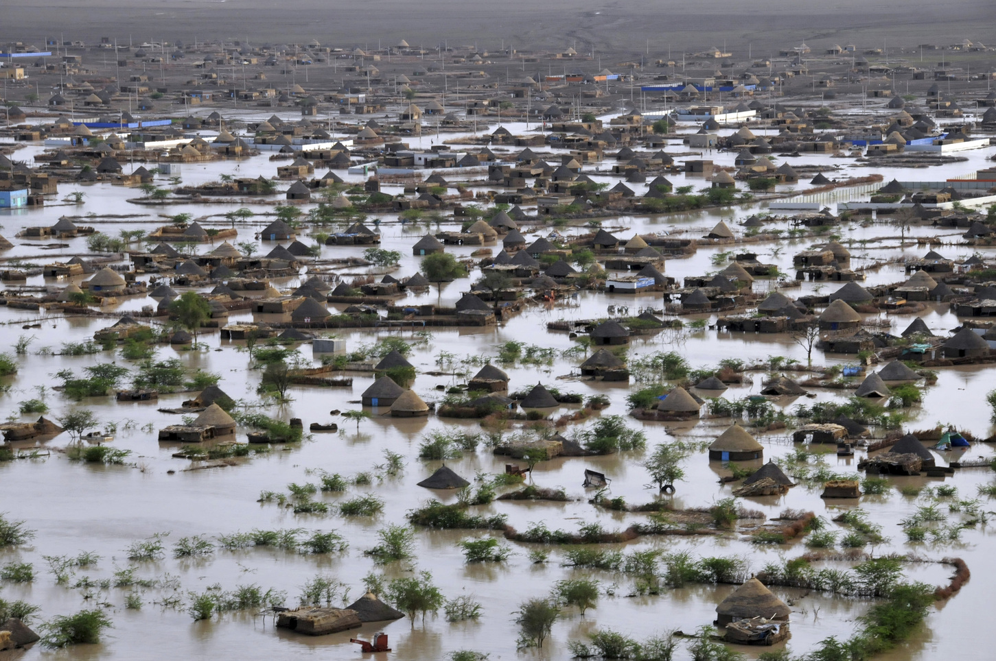 General view of the Gash River flooding in Kassala, Eastern Sudan