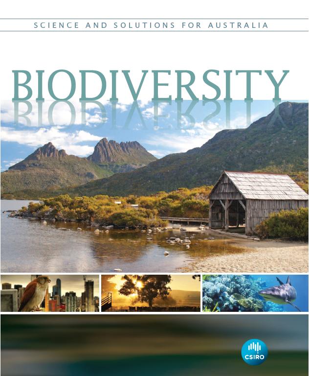 Front cover of the CSIRO's Biodiversity Book