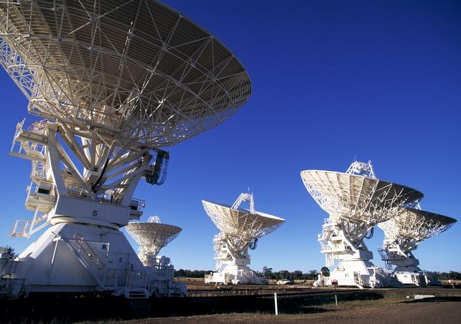 The Australia Telescope Compact Array.