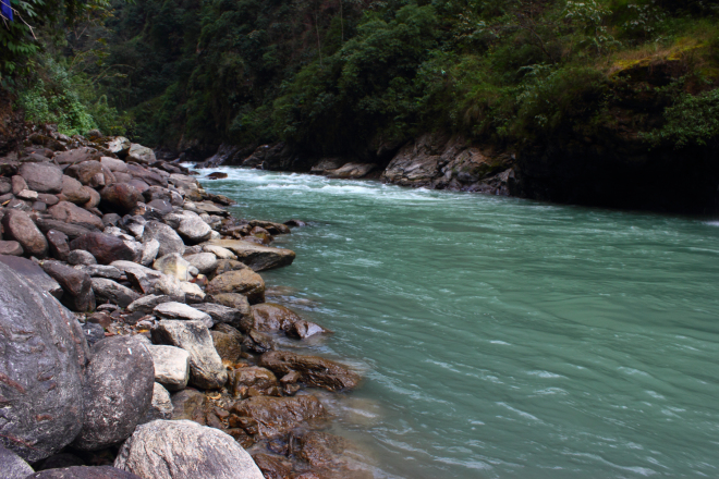 Koshi River in Nepal