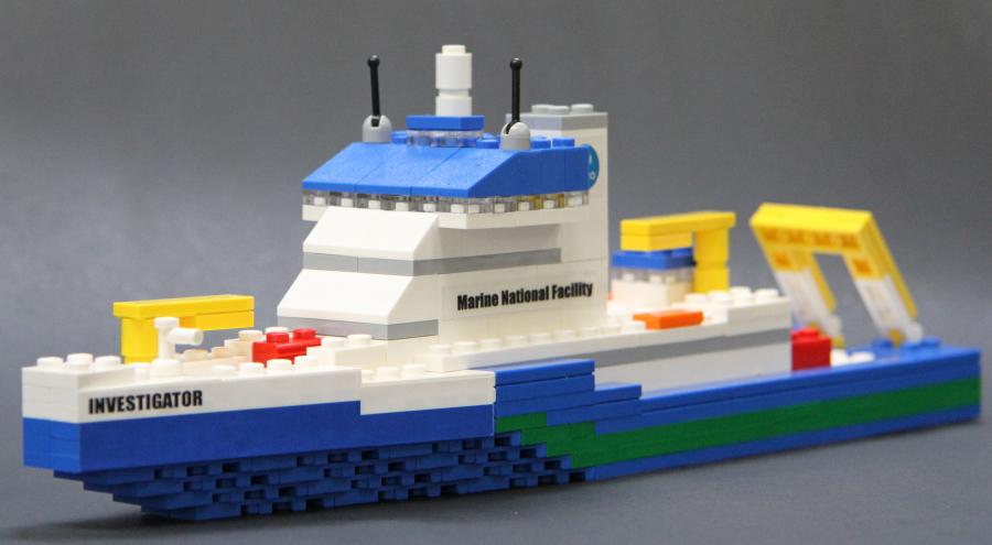 LEGO model of ship