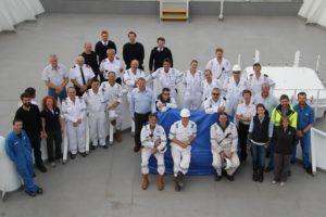 RV Investigator delivery crew (image MNF/Max McGuire)