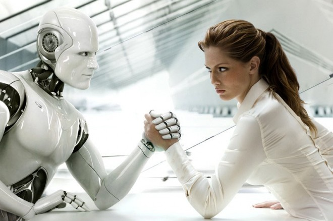 It doesn't need to be a case of 'us vs them' - robots actually help humans perform better. Image - Franz Steiner www.webneel.com