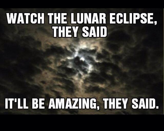 Lunar eclipse meme