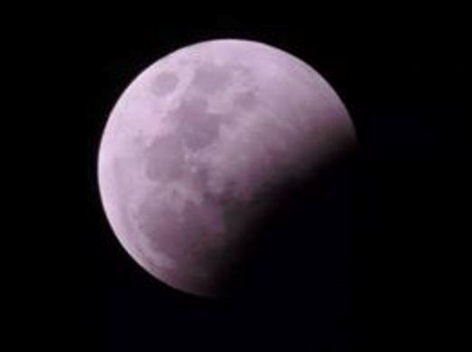 Lunar eclipse purple