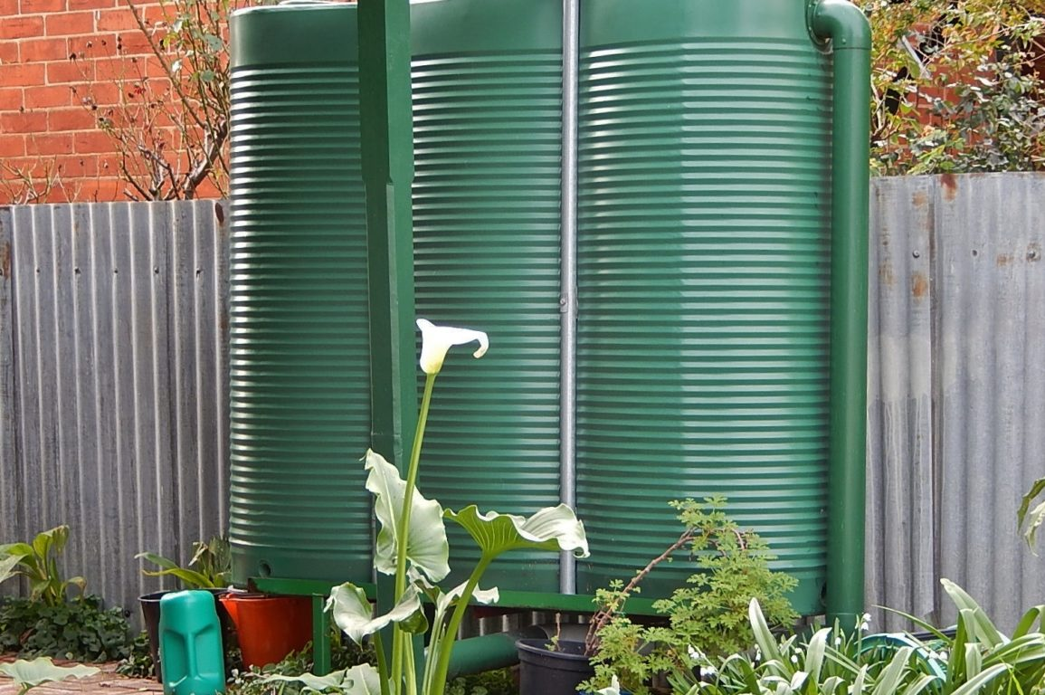 The humble rainwater tank sits silently, dutifully doing its part for the environment - and your wallet. Image: Michael Coghlan