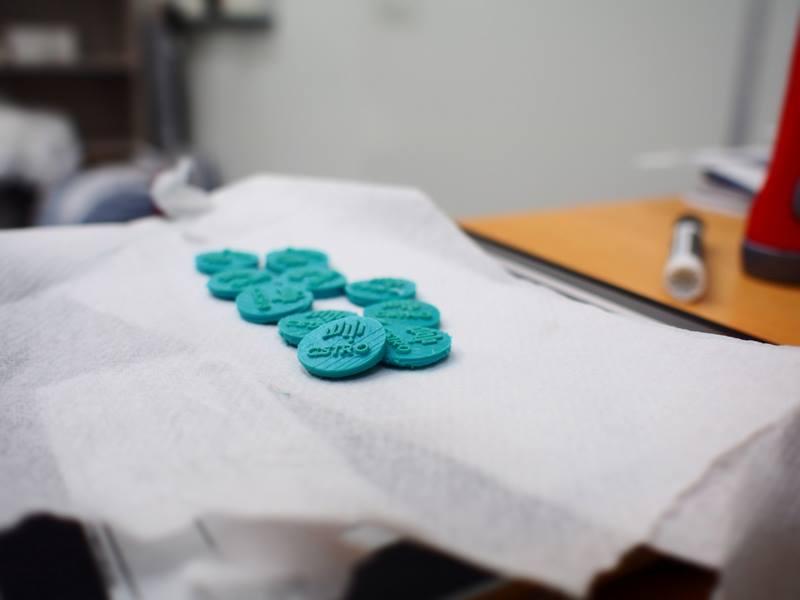 Some prototype P-YOM coins.