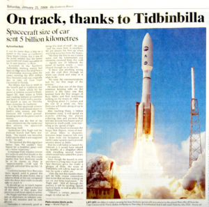 CDSCC has been tracking the New Horizons spacecraft since its launch in January 2006. Image: Canberra Times/Fairfax