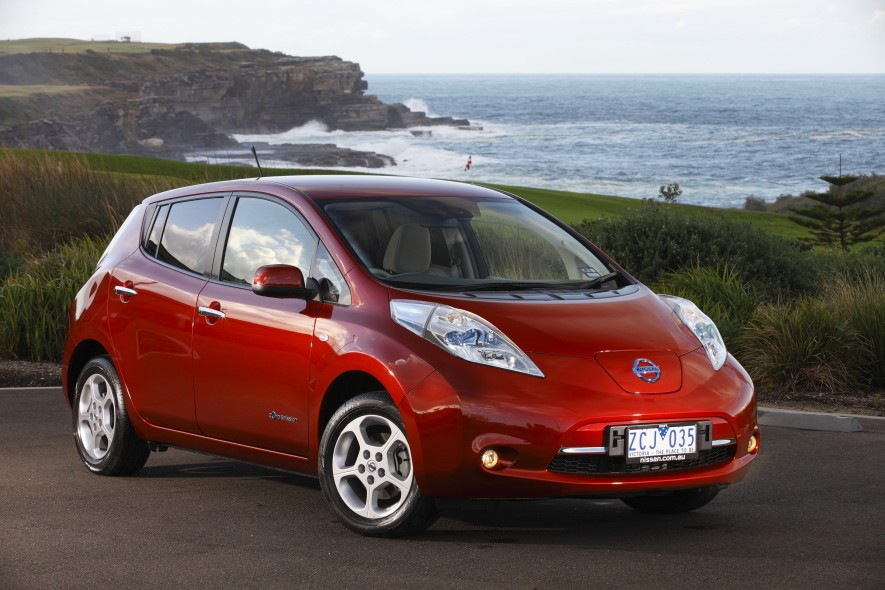 To 2020 and beyond! The 100% Electric Nissan 'Leaf' will be manufactured in Australia for many more years. Image: Nissan