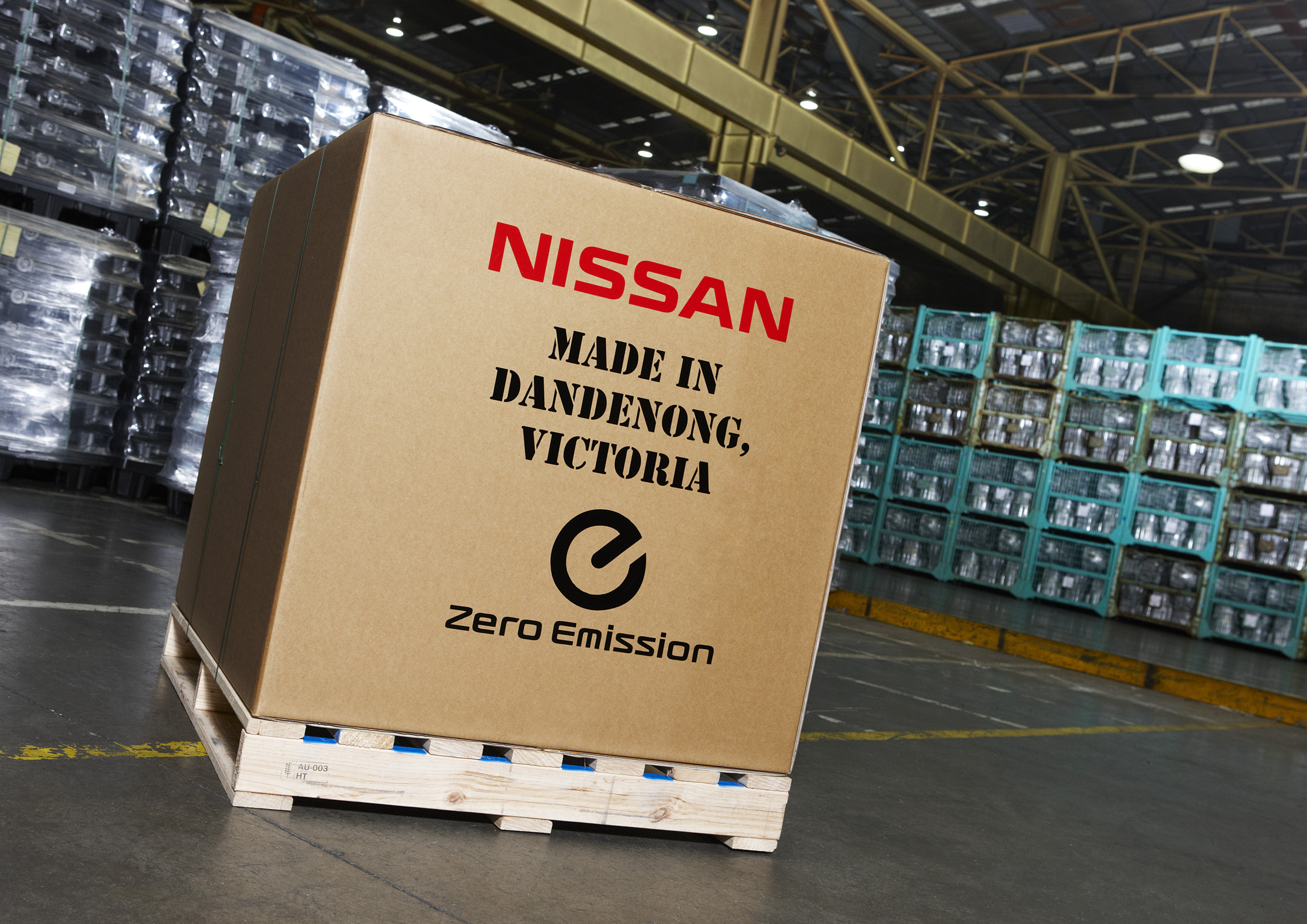 Nissan will send the parts made in Victoria to markets around the world.