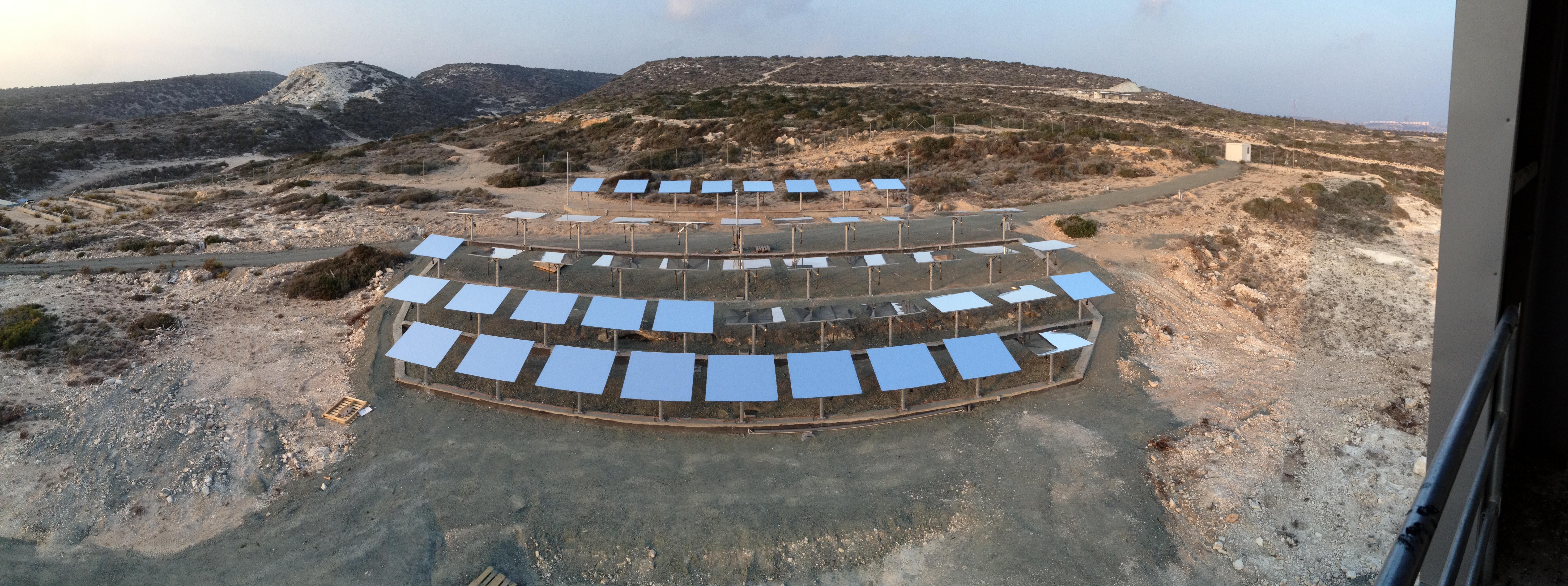 Solar field of dreams. Credit: Cyprus Institute
