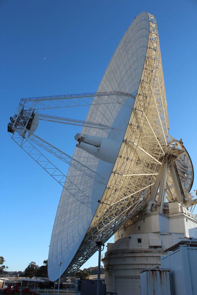 BIG DISH: CDSCC's 70-metre antenna dish, Deep Space Station 43 is keeping an 'ear' on New Horizons.