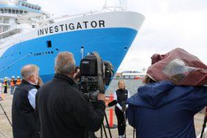 RV Investigator arrives into Hobart 09092014