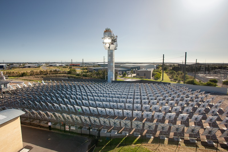 Our solar thermal tower testing facility at our Energy Centre in Newcastle.