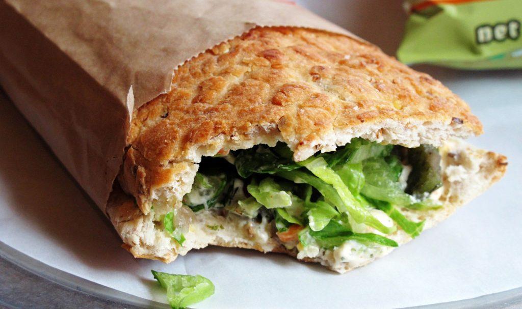 A gluten-rich sandwich
