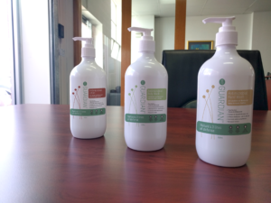 Three bottles of lotion