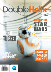 Image of the front cover of a recent Double Helix magazine