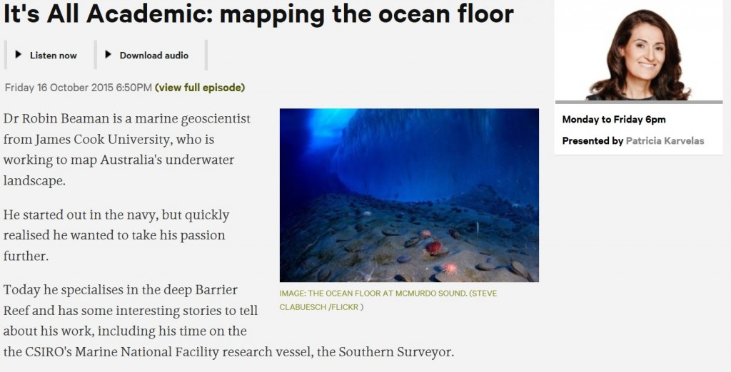 It's all academic mapping the ocean floor
