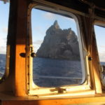 Looking from the bridge of Southern Surveyor out to Ball's Pyramid (image MNF + Bruce Barker)