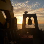 The sun sets over the back deck of Southern Surveyor (image MNF + Michelle Linklater)