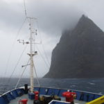 The weather closes in on the voyage led by Professor Colin Woodroffe 6 (image MNF + Bruce Barker)