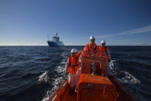 Geoscience Australia aboard the RV Investigator in May 2015.