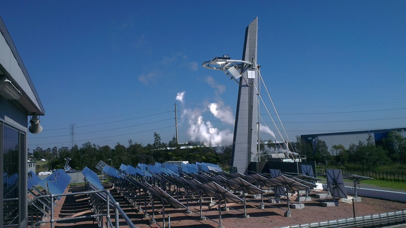 A supercritical steam demonstration at our solar field.