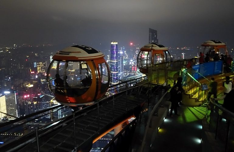 The view from the observing deck on Canton Tower.